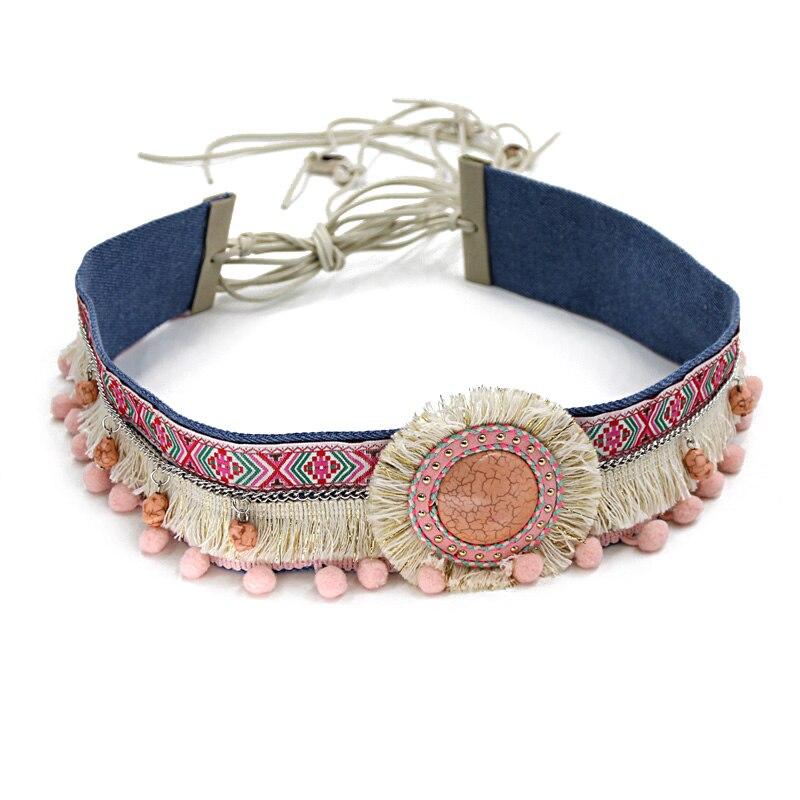 Women Statement Belt Bohemian Handmade Decoration Waist Belt Tassel Accessories Boho Fringed Clothing Accessories
