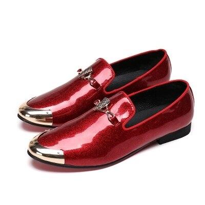 Brillantes Verano Cabeza Y negro Los Boda Cielo Redonda La Del azul Rojo De Zapatos Conjunto Marea azul Hombres Casuales Cuero Partido Beige 6qnwEYxX0U