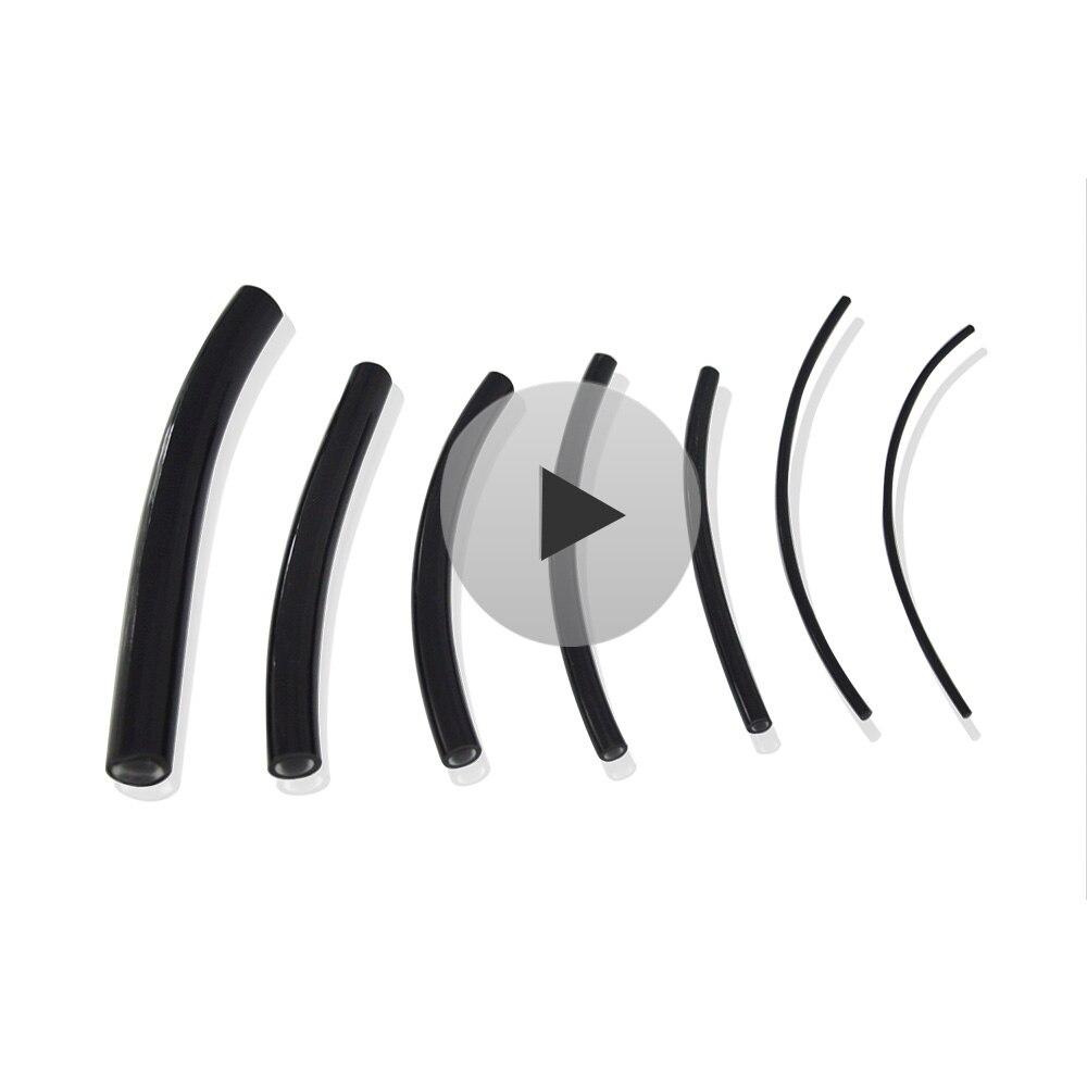 Diamètre intérieur de câble optique de Fiber de lueur d'extrémité de polymère de veste noire de PVC de Maykit 5mt. 1mm/2mm/2.5mm/3mm/4mm/5mm/6mm/8mm/10mm