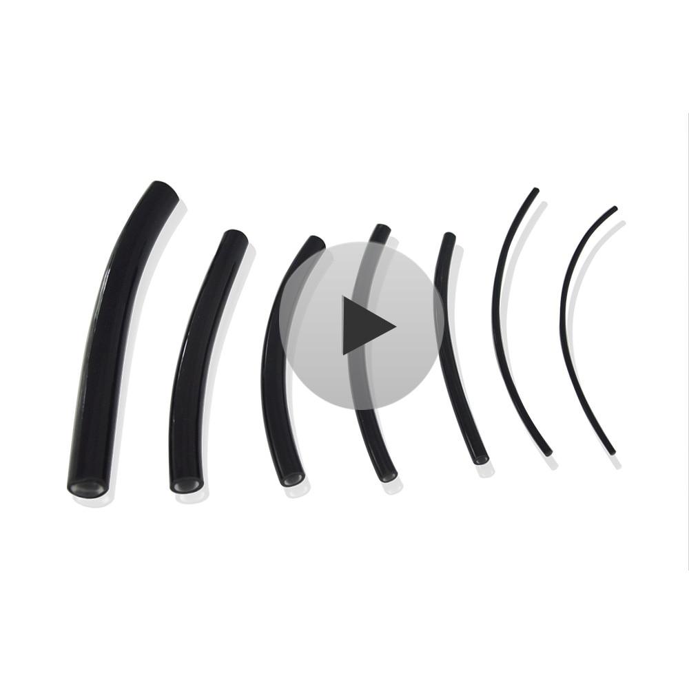 Maykit 5mt черная ПВХ Куртка полимер конец светящийся волоконно-оптический кабель освещение внутренний диаметр. 1 мм/2 мм/2,5 мм/3 мм/4 мм/5 мм/6 мм/8 мм...