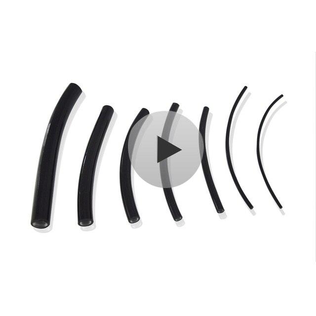 Maykit 5mt ZWART Pvc Polymeer Einde Gloed Glasvezelkabel Verlichting Inner Dia. 1mm/2mm/2.5mm/3mm/4mm/5mm/6mm /8mm/10mm|Glasvezel Lichten|   -