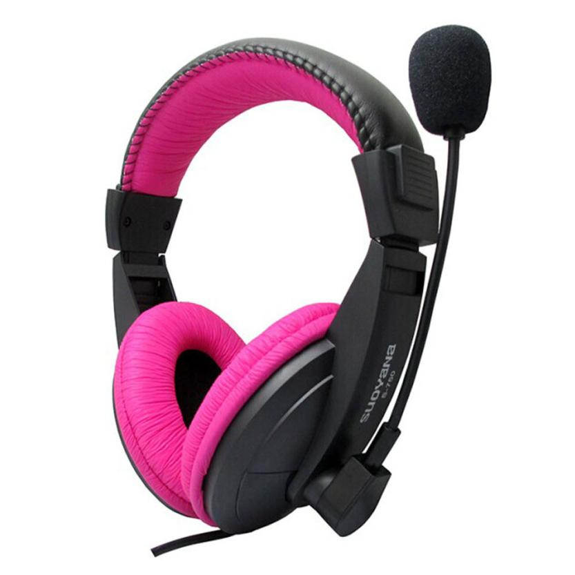 High Quality HOT Stereo Earphone Headband PC Notebook Gaming Headset Microphone Feb03