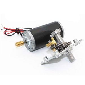 Image 3 - Micro motor reversível da caixa de engrenagens do sem fim do turbocompressor do torque alto do sem fim do motor da redução da engrenagem da c.c. 12v mini