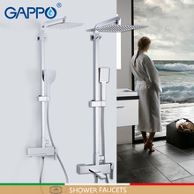 GAPPO Bad Kranen messing badkamer douche set wandmontage massage douchekop chrome bad mengkraan badkamer douche kraan