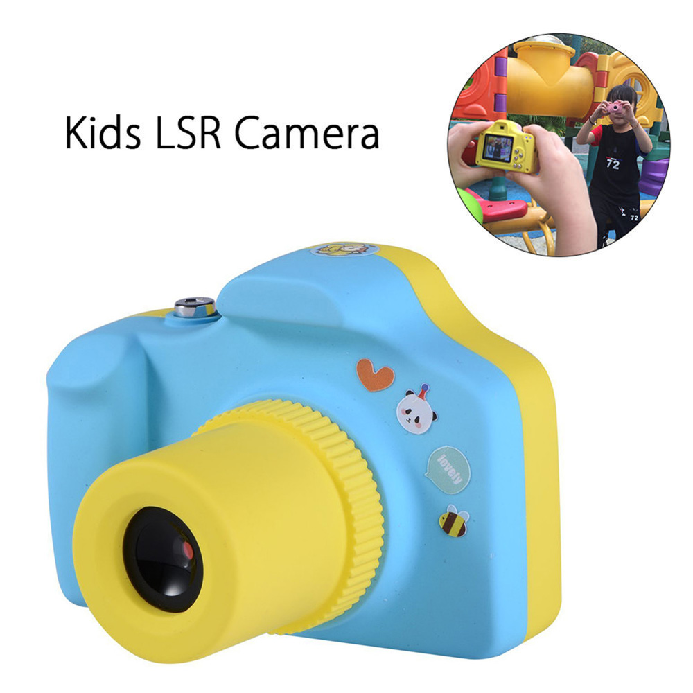 Cartoon 1.5 Inch 5.0MP Mini Shoot LSR Cam Digital Camera for Kids Baby Multifunction Toy Camera Support Micro SD Card