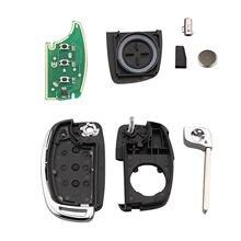 3 кнопки дистанционного ключа складной Флип 433 МГц id46 для