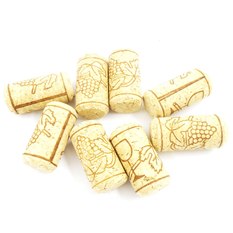 1000 pcs/lot ,22*44mm Cork Wine bottle stoppers Convenient Unused Straight Natural Tapered, Round Cork Plugs 1