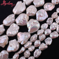 Natural White Freshwater Pearl Baroque Stone Beads Strand 14 5 For DIY Necklace Bracelets Fashion Jewelry