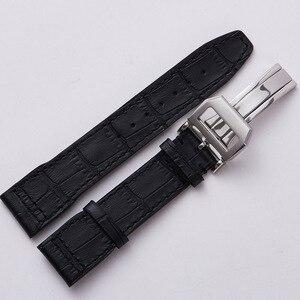 Image 2 - 20mm 21mm 22 mm mężczyźni prawdziwej skóry zegarek pasek zespołu wysokiej jakości pasek na rękę bransoletka dla IWC portugalia Mark 18 Pilot