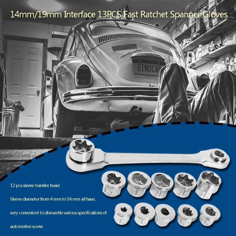 13pcs E6-E24 Socket Wrench Set Drive Ratchet Wrench Spanner for Bicycle Motorcycle Car Repairing Tool Set Common Sockets13pcs E6-E24 Socket Wrench Set Drive Ratchet Wrench Spanner for Bicycle Motorcycle Car Repairing Tool Set Common Sockets