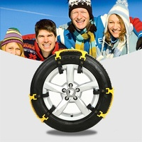 6pcs Set Auto Car Non Slipping Tire Snow Anti Skid Chains Dichotomanthes Material Chain Net