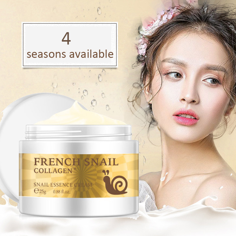 Snail Face Cream Hyaluronic Acid Anti-aging Moisturizer Nourishing Collagen Essence Day Cream