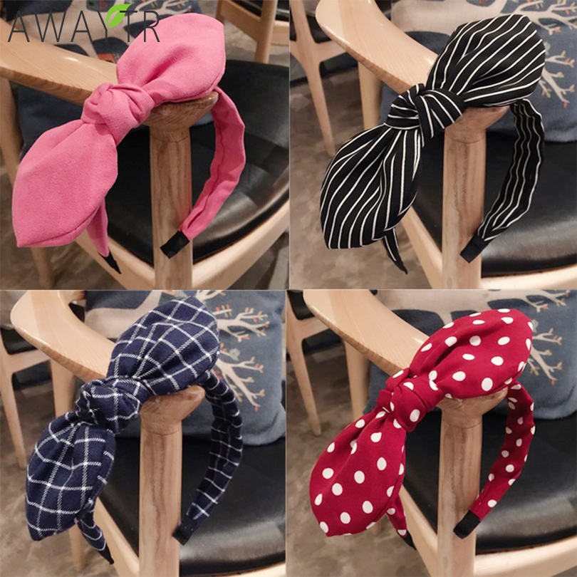 Fashion Lady Fabric Big Ribbon Hair Hoop Girls Bow Widened Headband Ornaments Hairbands For Women Headwear Hair Accessories(China)