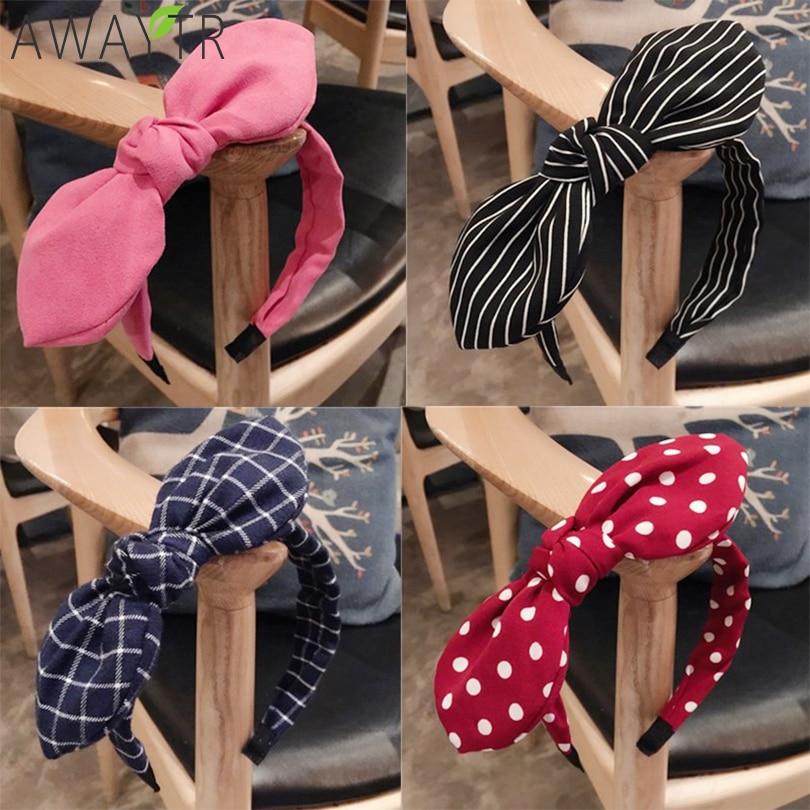 Fashion Lady Fabric Big Ribbon Hair Hoop Girls Bow Widened Headband Ornaments Hairbands For Women   Headwear   Hair Accessories