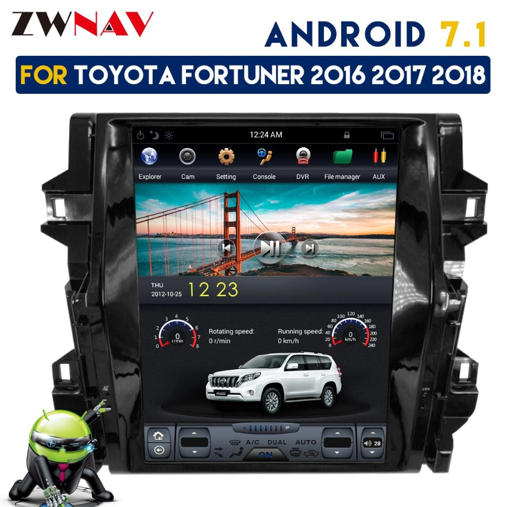 ZWNVA Tesla Style IPS Screen Android 7.1 64+2GB Car No DVD Player GPS  Navigation For Toyota Fortuner 2016 2017 2018 Radio Stere cb5d5b50e744