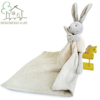 Роскошное мультяшное хлопковое детское полотенце для аппетита с кроликом, плюшевые игрушки, безопасные для укусов, для новорожденных, мног...