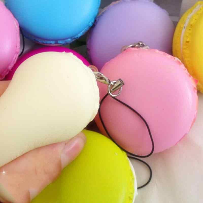 1PC Kawaii Pretend ของเล่นประดิษฐ์ Macaroons ของเล่นสุ่มสีขนมหวาน Macaron Squishy ของเล่นน่ารัก