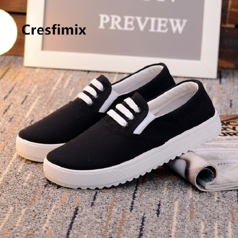 Cresfimix women fashion sweet black flat platform shoes lady casual slip on shoes cool shoes chaussures plates femmes a5115Cresfimix women fashion sweet black flat platform shoes lady casual slip on shoes cool shoes chaussures plates femmes a5115