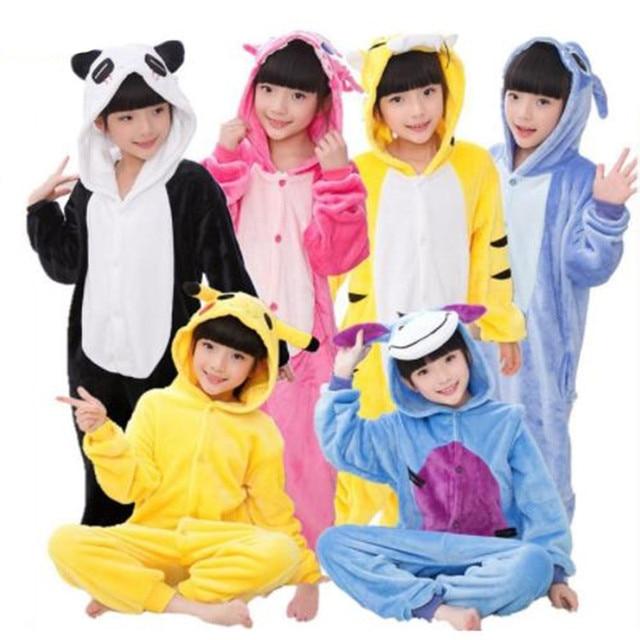 09229aa6adba Flannel Pijamas Kids Cosplay Cartoon Animal Baby Boys Girls Pyjamas ...