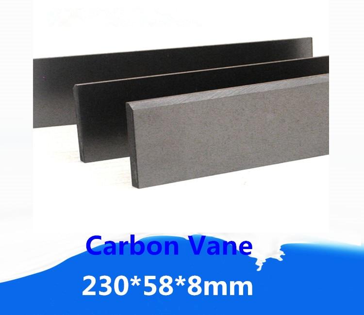 Palette de graphite de carbone de 230*58*8mm pour des pompes de ramassage de vapeur dessence/lame de plat de graphitePalette de graphite de carbone de 230*58*8mm pour des pompes de ramassage de vapeur dessence/lame de plat de graphite