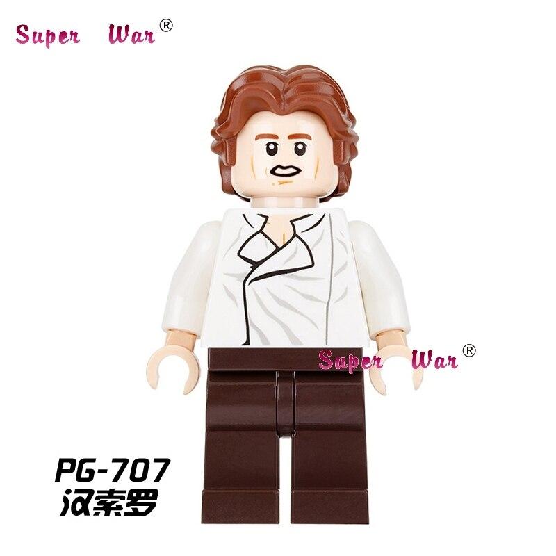 1PCS star wars super heroes marvel dc comics Han Solo building blocks models bricks toys for children kits