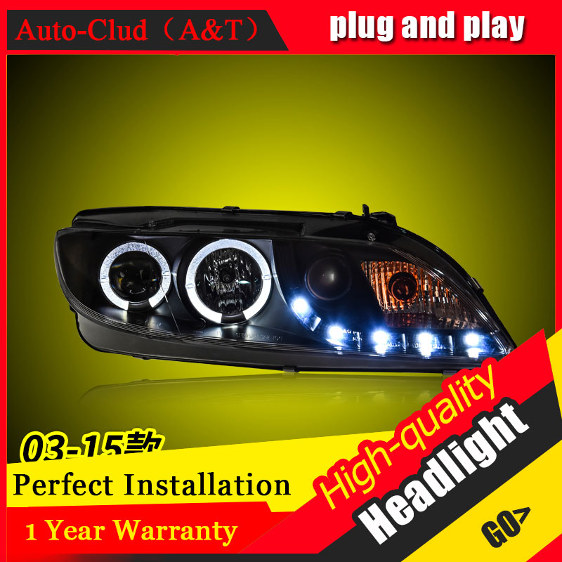 Auto Clud Car Styling For Mazda 6 headlights 2003-2015 For Mazda 6 head lamp led DRL front Bi-Xenon Lens Double Beam HID KIT bi xenon headlights for mazda 6 2003 2004 hi low beam projector lens with angel eyes hid bulb