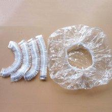 100pcs/lot Disposable Shower Caps Hat One-Off Bathing Caps Hotel Elastic Shower Cap Clear H