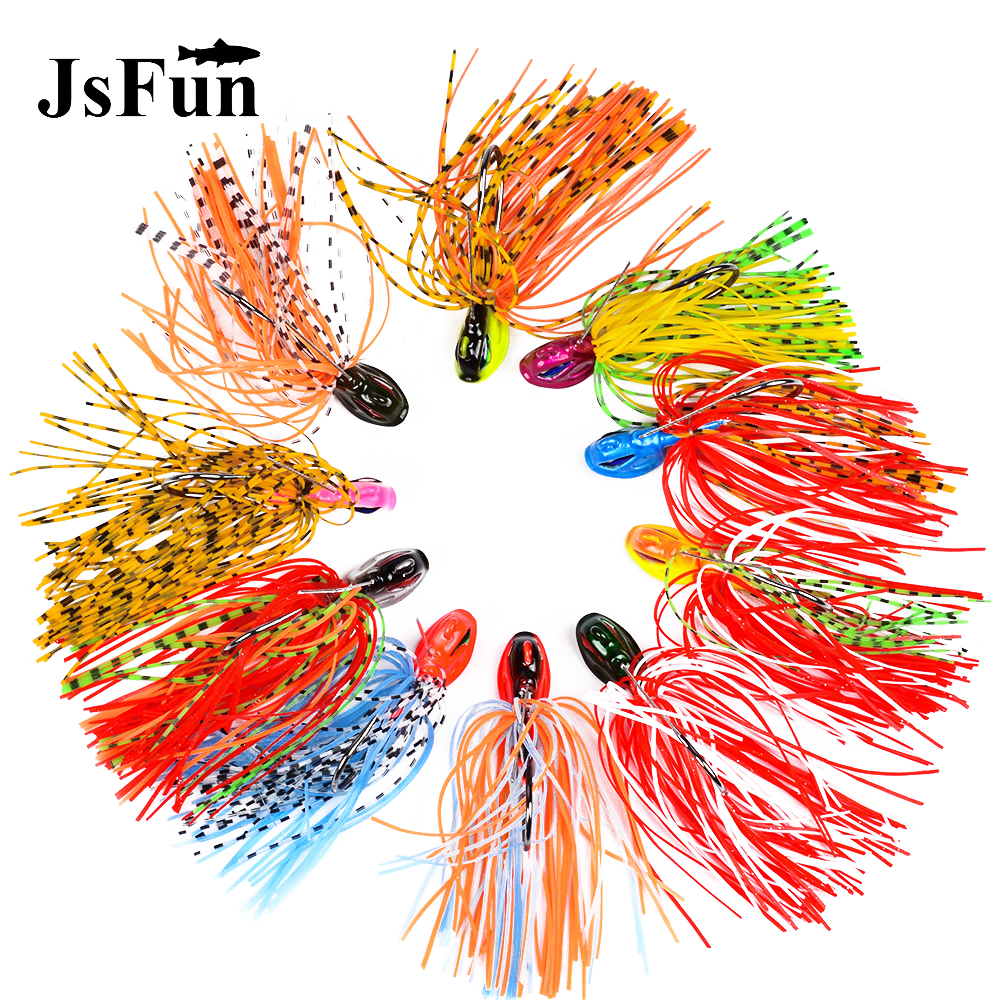 5PCS DIY Buzzbaits <font><b>Wobblers</b></font> Sinking Spinnerbaits 15G Pike Bass Jigs Fishing Lures Buzz Baits Colorado Willow Indiana Blades L166