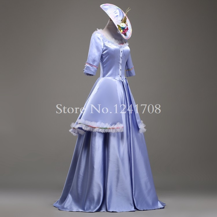 High end Blue Rococo Baroque Marie Antoinette Ball Gown 17th Century ...