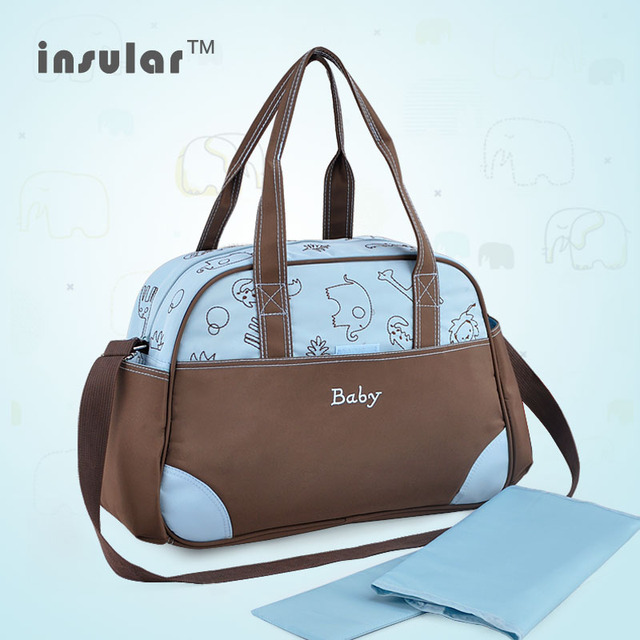 8512db02ea8 INSULAR Diaper Bag Fashion Baby Bag Large Capacity Waterproof Shoulder Bags  for Stroller Hanging Maternity Nappy
