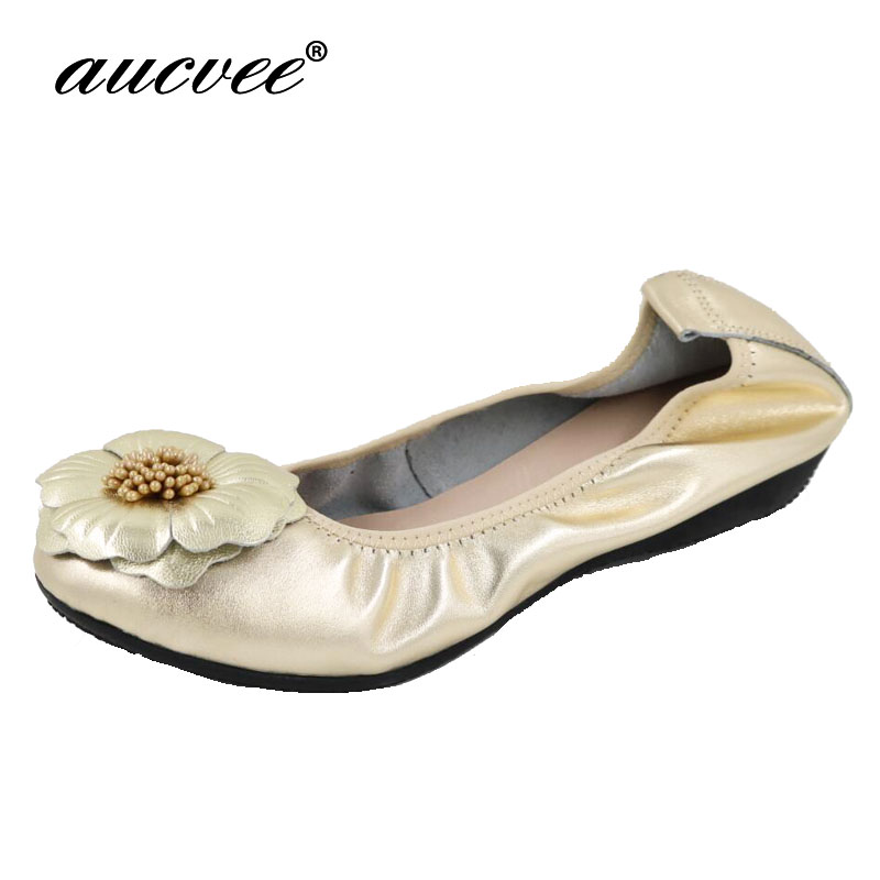 2018 Fashion Brand Women Shoes Comfort Round Toe Leather Ballerina Foldable Ballet Flats Portable Travel Flats Pocket Shoes 2018 women shoes comfort pointed toe patent leather ballerina ballet flats portable travel flats summer slip on shallow shoes