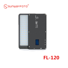 SUNWAYFOTO FL 120 Photography Fill Light Digtal Display, built in lithium battery easy to carry for DSLR and Telephoto Lens
