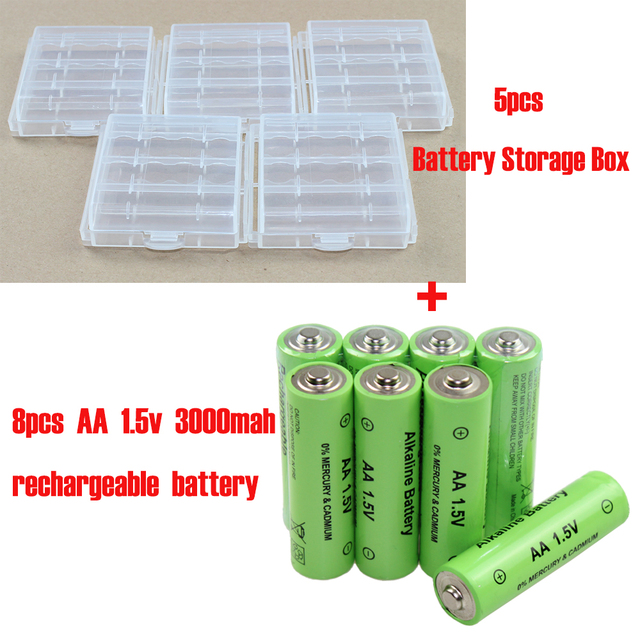 Rechargeable Alkaline Batteries >> 13pcs Lot Aa 1 5v 3000mah Rechargeable Alkaline Battery Aa Aaa Batteries Storage Box In Battery Storage Boxes From Consumer Electronics