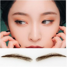 2017 free shipping FIXVIC human hair eyebrow wig /Eyebrow Tattoos 002 Full Brow & Soft Angled Arch Eyebrow Tattoos