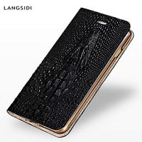 Crocodile skull Flip cover Luxury phone case For iPhone X XS XSmax XR 6 7 8 8plus High end Card loading All inclusive cover