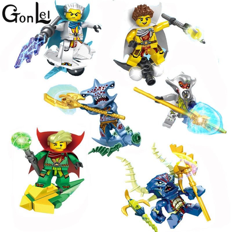GonLeI 6pcs Pirates of the Caribbean Series Toys Building Block New Kids Gift Children DIY Toys Christmas Gifts Compatible 1717pcs new 22001 pirates of the caribbean imperial flagship diy model building blocks big toys compatible with lego