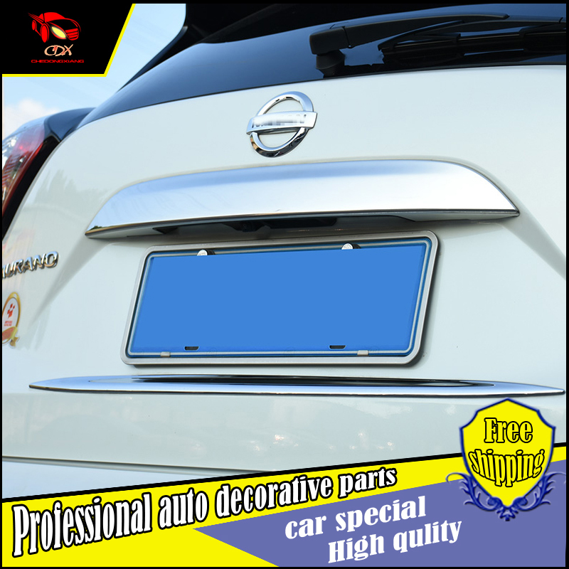 Car styling BOOT DOOR TAILGATE MOLDING for NISSAN MURANO 2015-2016 model ABS chrome plating Rear door trim Tail door decoration