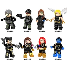 Single Longshot Figure Ultimate Angel Wolverine Rogue Jean Grey Beast Quicksilver Cyclops building blocks toys for children