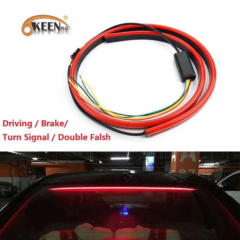 US $14 05 41% OFF|OKEEN 12V Universal Red LED Car Styling Third Brake Light  Bar Fog Lamp Truck Stop Tailgate High Mount Rear Roof Warning Light-in