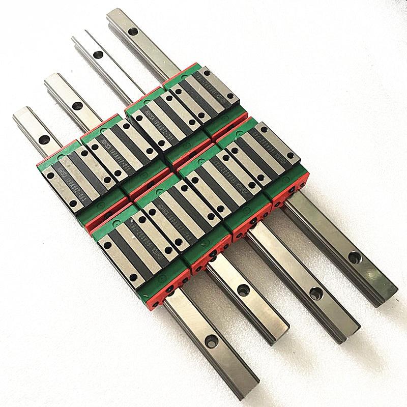 Envío Gratis envío rápido 6 piezas HGH20-550/900/2270mm + 12 HGH20HA + 1 piezas SFU1605-450mm con tuerca + carcasa de 2 piezas + 1 juego bkbf12 + acoplador