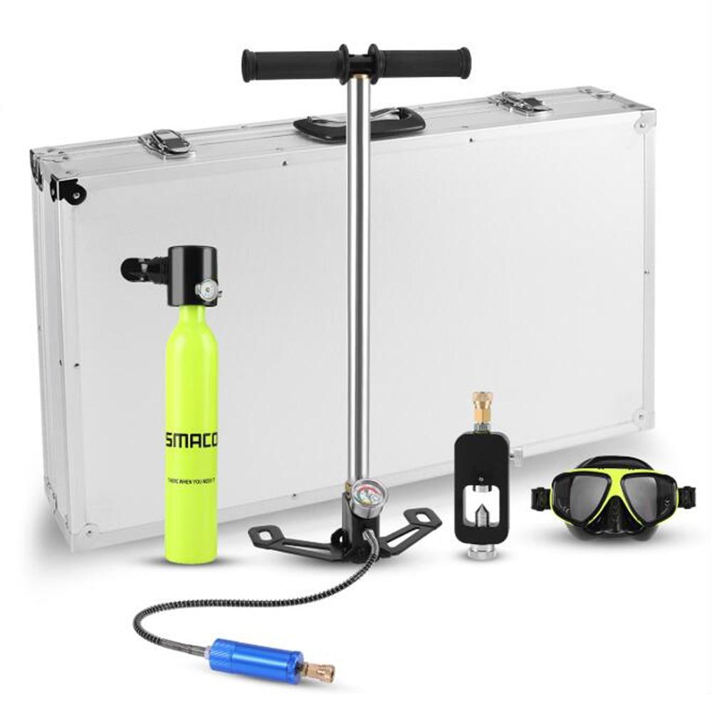 2019 nouveau Mini réservoir d'oxygène de plongée sous-marine tuba respirateur respiration bouteille d'oxygène adulte équipement de natation