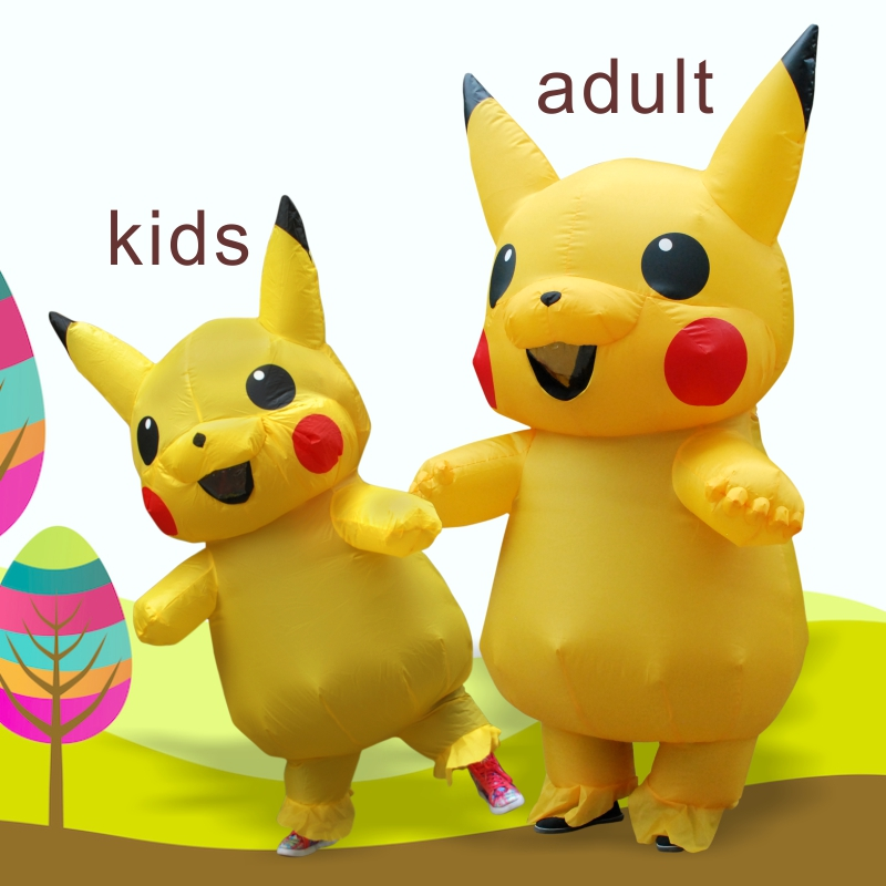 New Yellow INFLATABLE Pika Costume Halloween Costume For Kids Inflatable Costume Party Dress Costumes For Adult
