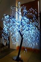 Бесплатная доставка 945 шт. LED 6ft 1.8 м высота LED Willow плача дерева домашний сад открытый Белый партии праздника Новый год Рождественский Декор