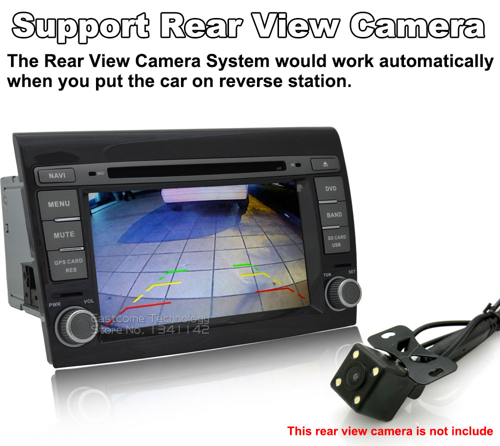 Excellent 1024*600 8 Cores Octa Core Pure Android 6.01 Car DVD Player For Fiat Bravo 2007 2008 2009 2010 2011 2012 With Rear View Camera 10