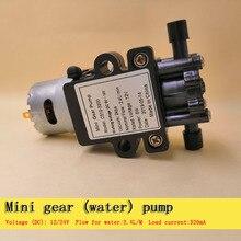 цена на 2.4 l/m electric 12V or 24V dc brush mini gear pump Water pump