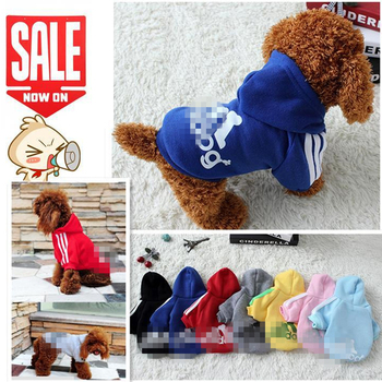 2017 New Autumn Winter Pet Products Dog Clothes Pets Coats Soft Cotton Puppy Dog Clothing Clothes For Puppy Dog 7 Colors XS-2XL