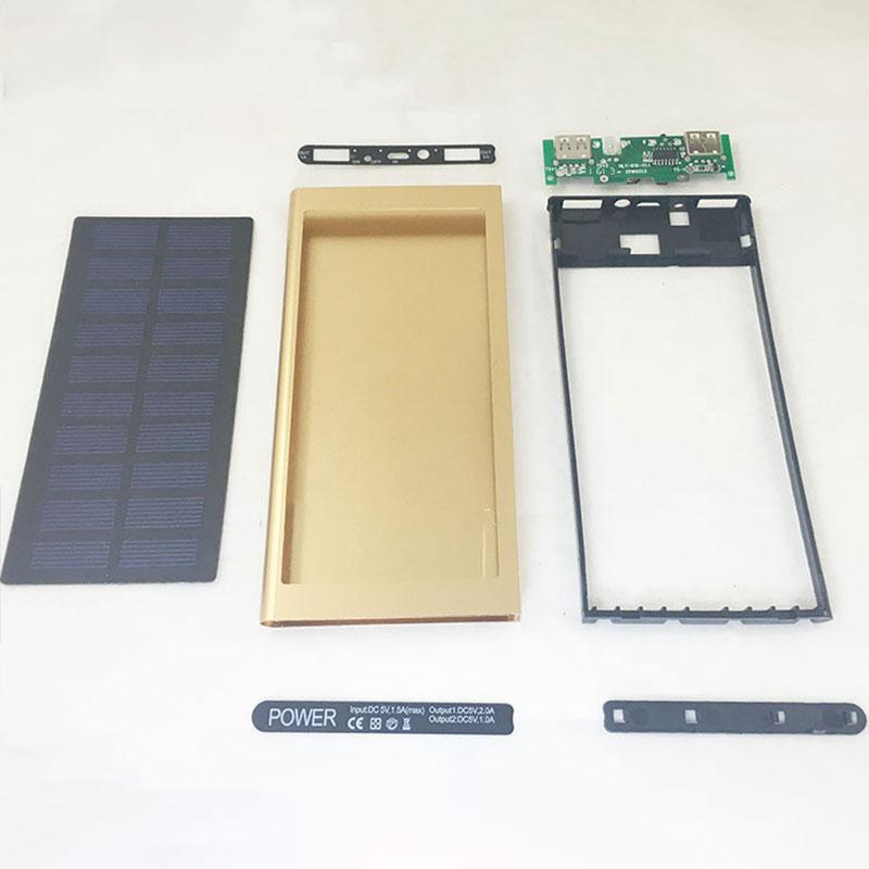 Cewaal Solar Power Bank DIY External Solar Charger Dual USB Travel Powerbank Solar Panel for Mobile Phone SmartPhone Charging стоимость