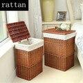 Rattan Mobiliário de Jardim Venda Coberta rattan cesto de roupa suja de sujo vestir os pés dos móveis de armazenamento caixa de armazenamento de cestos de armazenamento decorativo