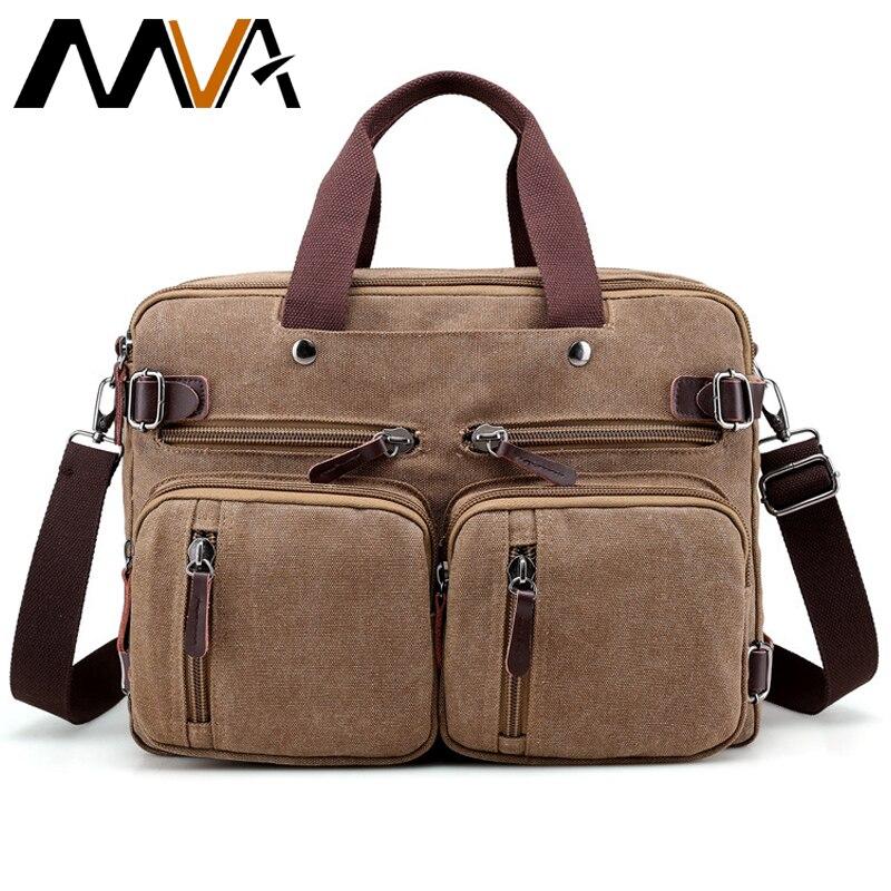 5767849388f1 MVA Холщовая Сумка мужская многофункциональная сумка на плечо винтажная  большая емкость дорожные сумки Мужская сумка-