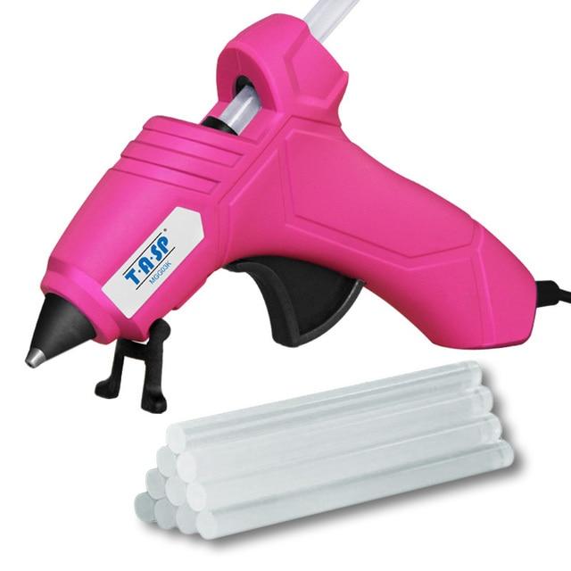 220V 12(70)W DIY Mini Hot Glue Gun Silicone Melt Repair Tools with 10pcs 7mm Sticks